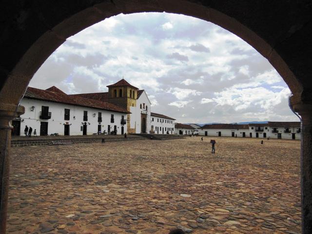 Het dorpsplein temidden van Villa de Leyva