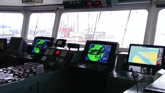 Een kijkje op de brug, bij DFDS Seaways