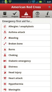 First Aid American Red Cross app