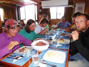 Lunchen aan boord