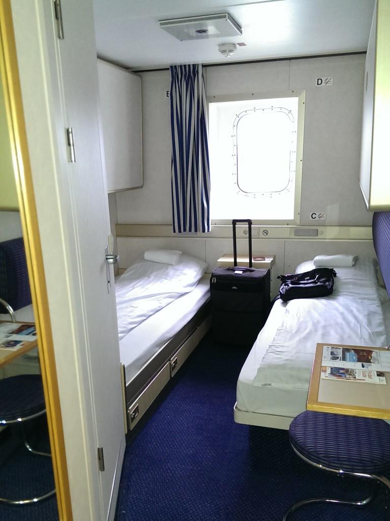 Slaapkamer aan boord van de Kings Seaways