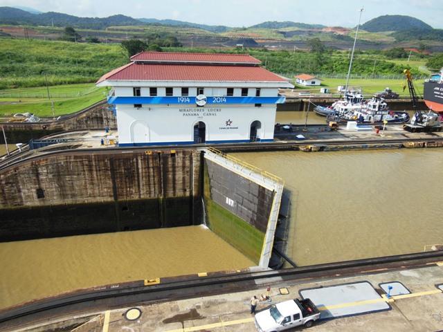 Het panamakanaal in werking