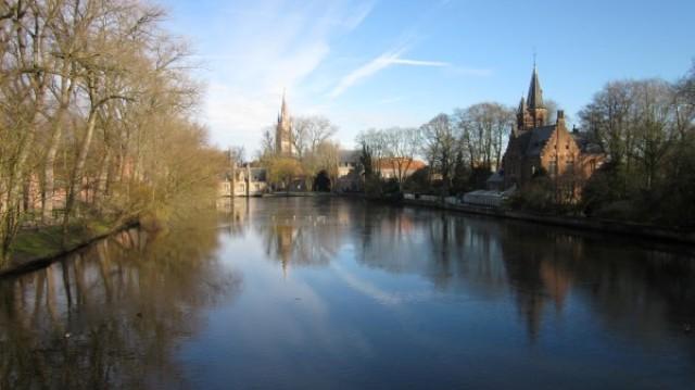 Het minnewater in Brugge