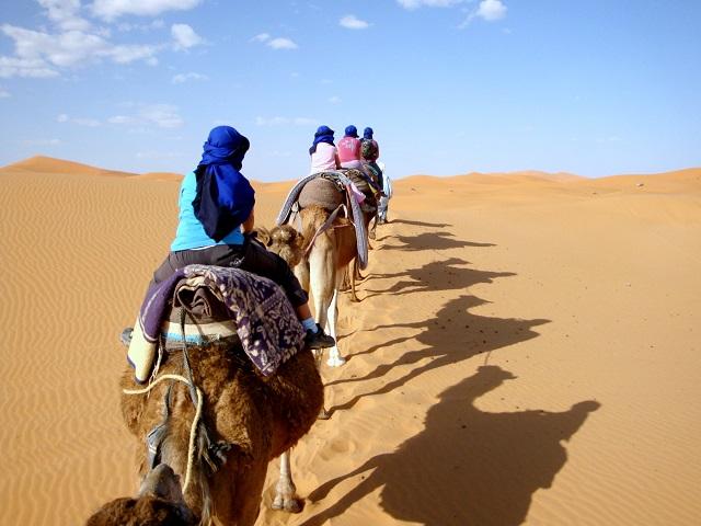 Marokko kamelentocht