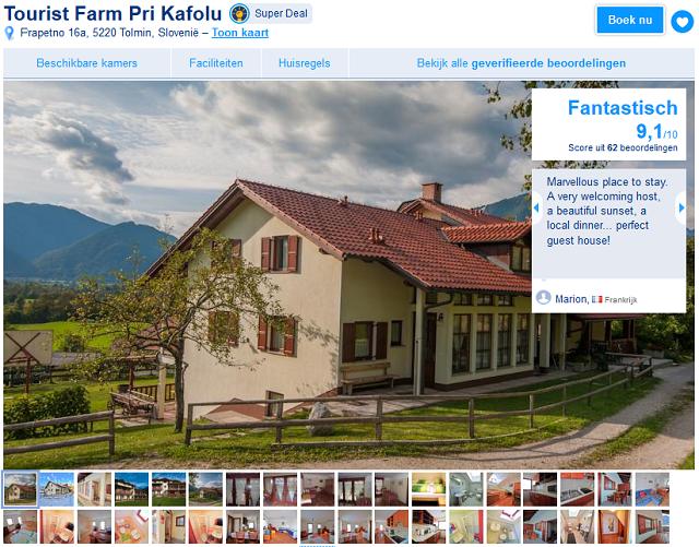 Ecologische Accommodatie tip in Tolmin, Slovenie. Nabij de Soca rivier!