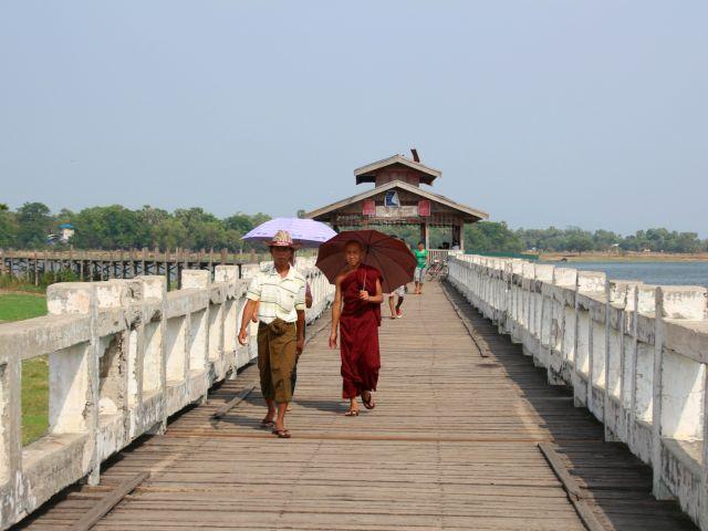 Myanmar: de U-Bein brug bij Mandalay