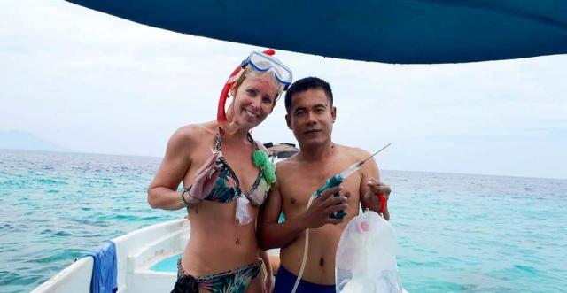Ocean Clean Up bij Pulau Menjangan, Bali