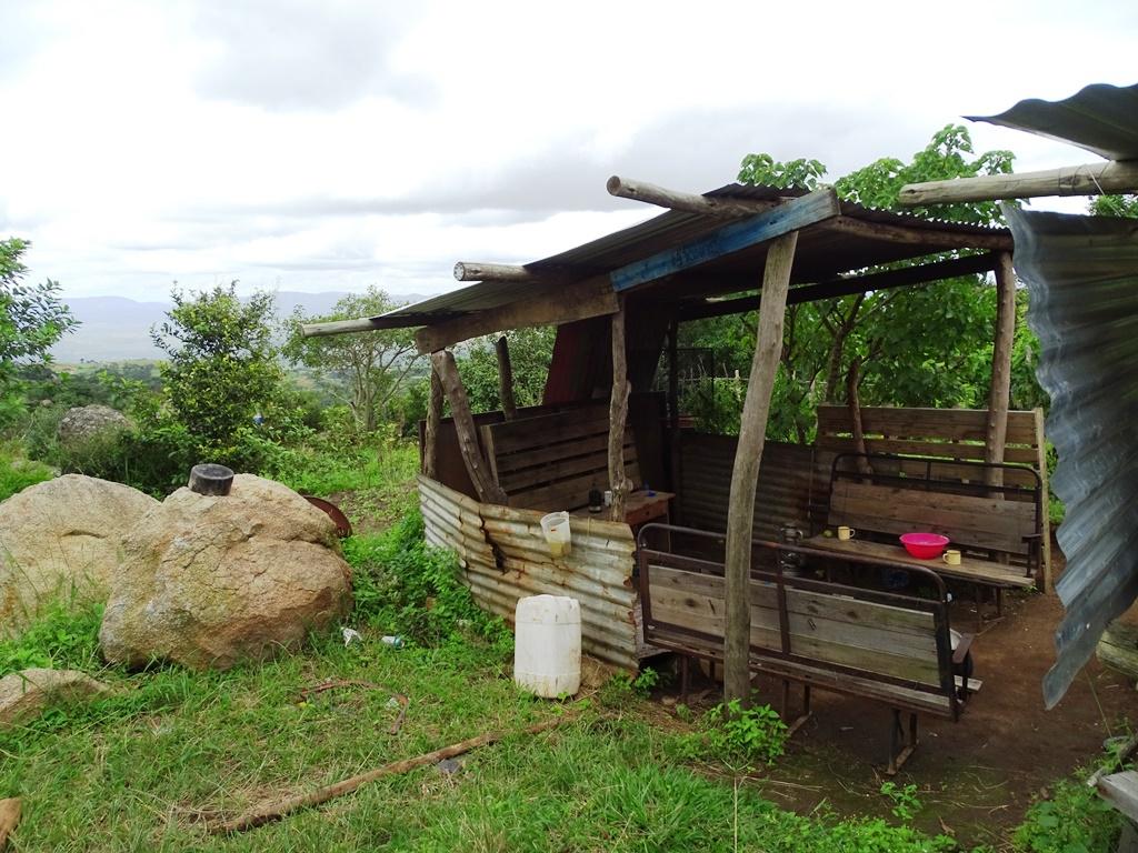 Homestay Swaziland overdekte kookruimte