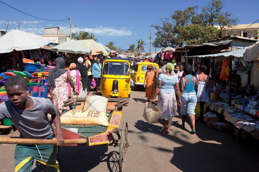 Het straatleven op Madagaskar