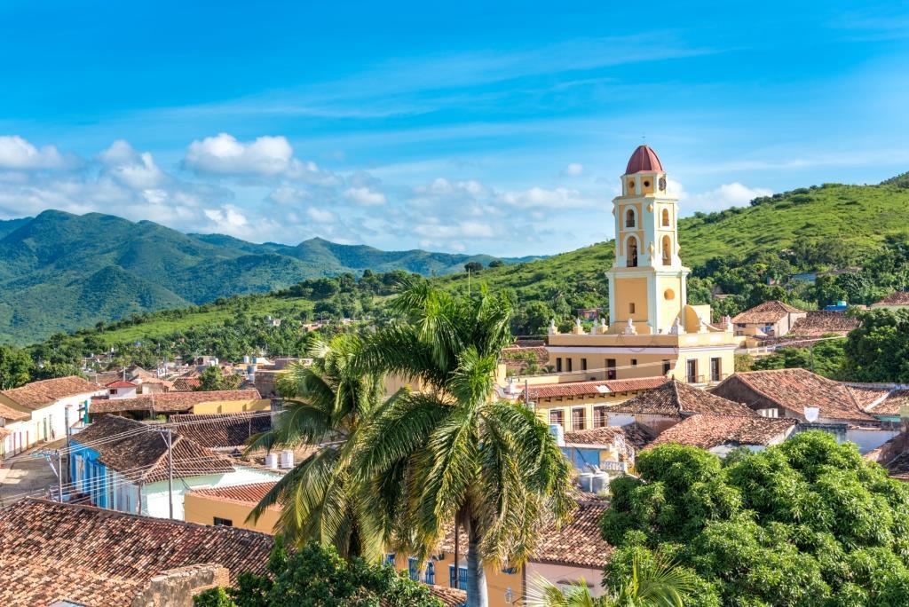 De Iznaga toren geeft een prachtig uitzicht over Trinidad, Cuba