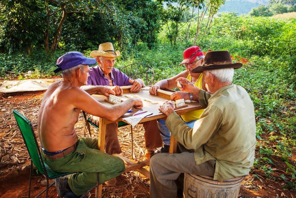 Cubanen houden van spelletjes. Vooral Domino is populair.