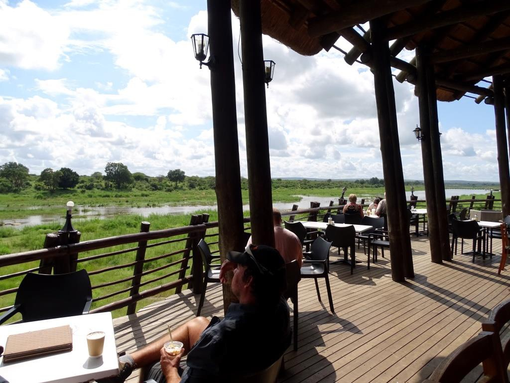 Restaurant met Panoramaview bij Lower Sabie Rest Camp (Krugerpark, Zuid-Afrika)