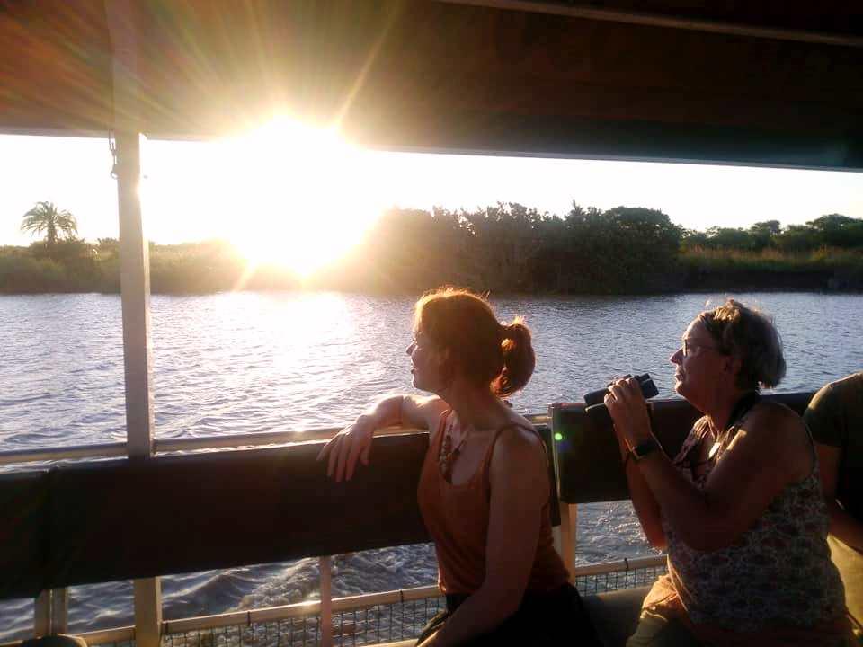 Prachtige sunset tijdens Hippo & Croc Tour in St. Lucia (Zuid-Afrika rondreis tip!)